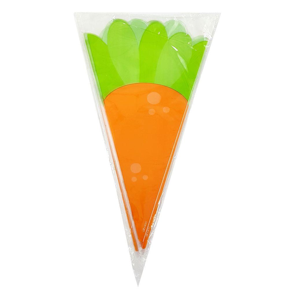 Embalagem cone cenoura - 50 unidades