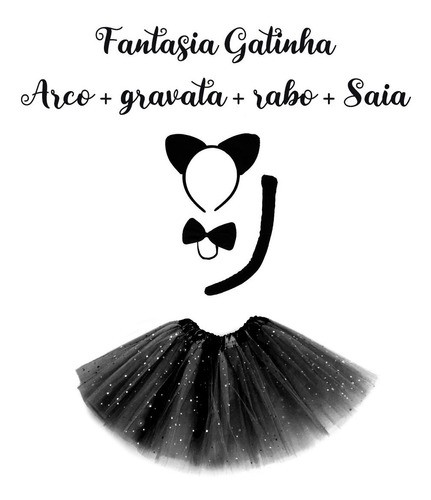 Fantasia Gatinha Preta