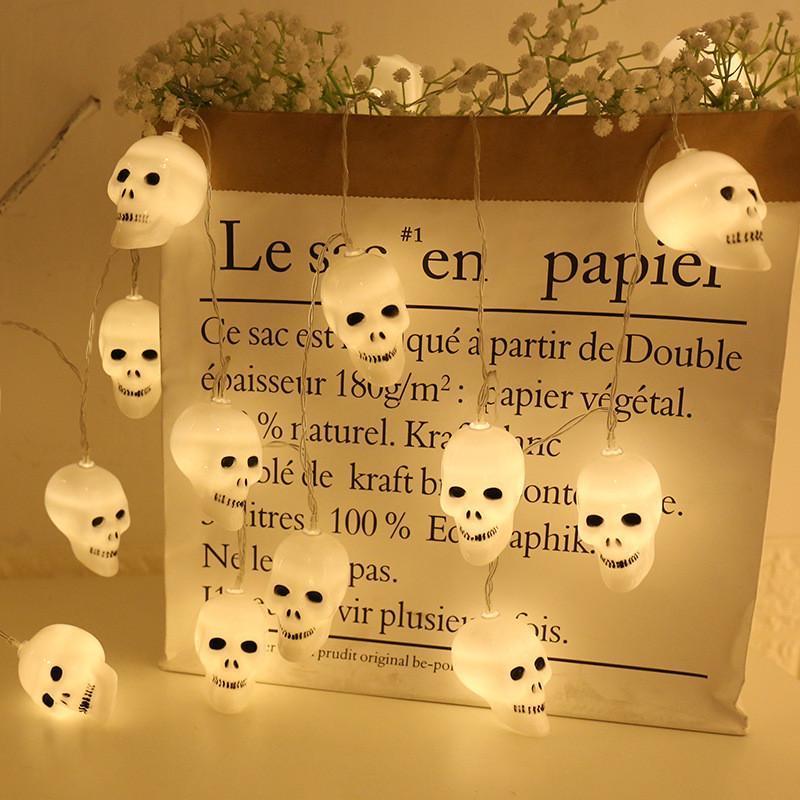 Fio De Luz Led Halloween Caveirinha Dia Bruxas - 1 unidade
