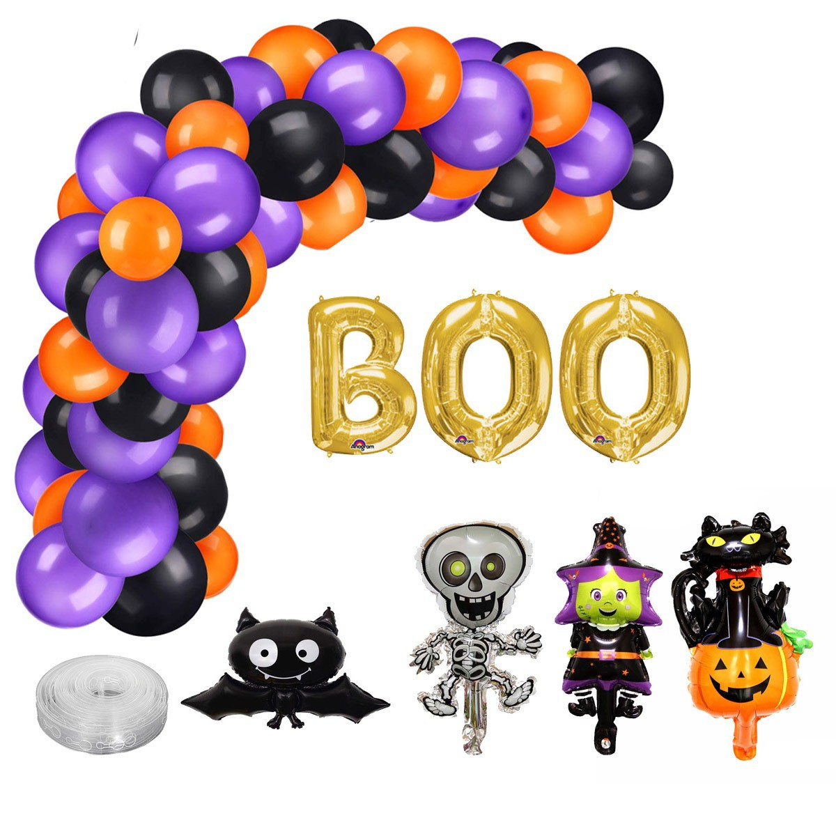 Kit Arco Desconstruído Halloween
