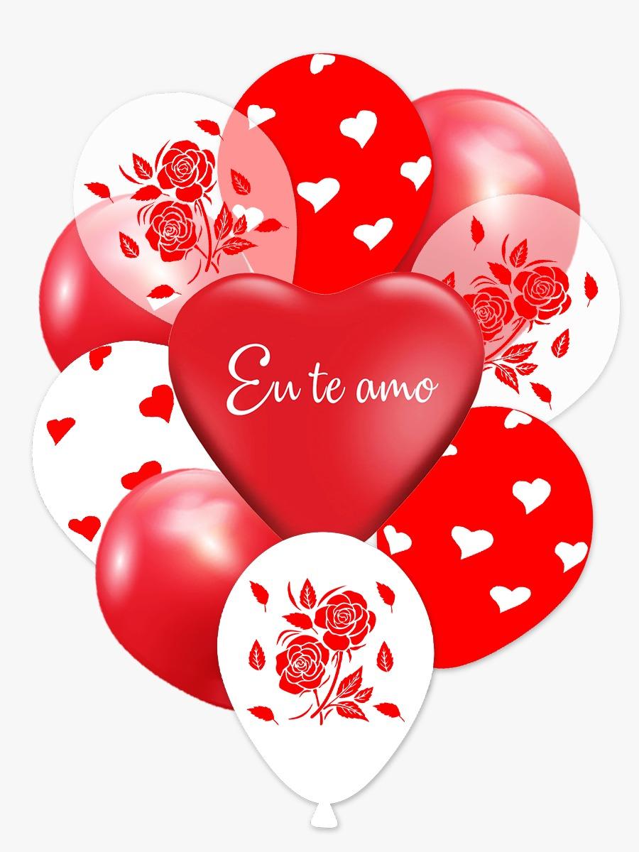 Kit Buque Romantico Balões 11'' Com 10 Unidades