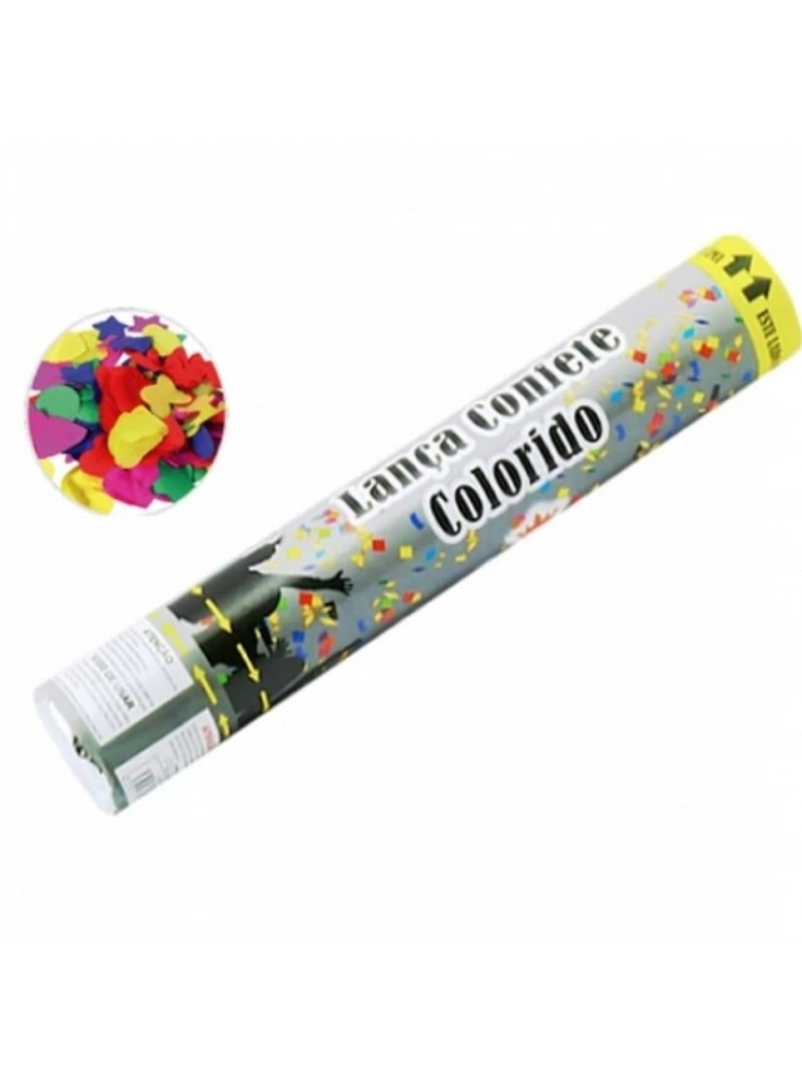 Lança Confete Colorido  30cm