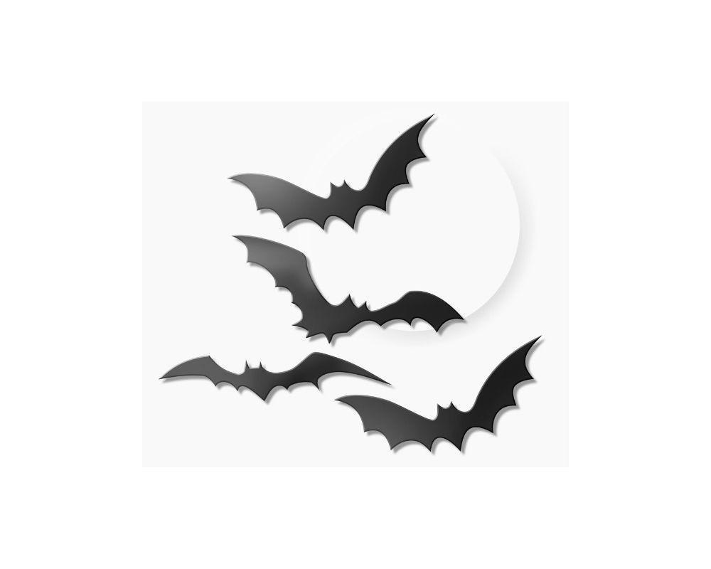 Morcego de Plástico Enfeite de Halloween- 8 unidades