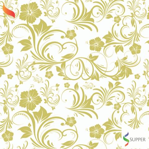 Tnt Estampado floral dourado 1,4m X 2m