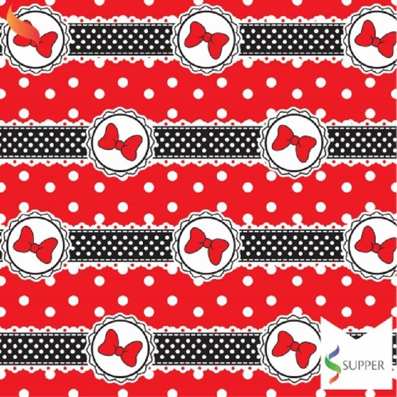 Tnt Estampado Minnie Vermelha  1,4m X 2m