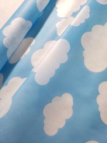 Tnt Estampado Nuvem Azul 1,4m X 2m