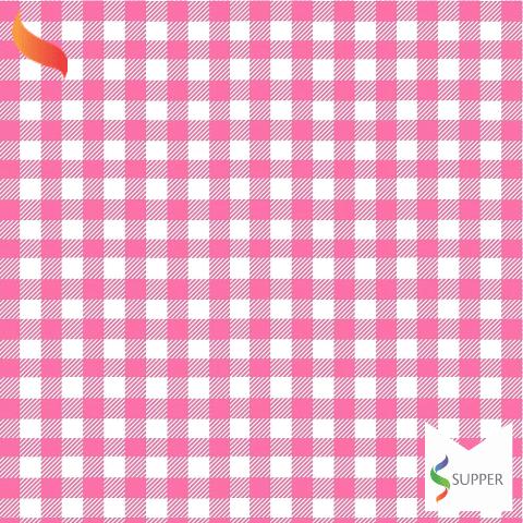 Tnt Estampado quadriculado xadrez rosa 1,4m X 2m