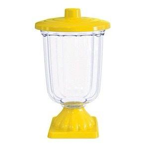 Vaso Grego com tampa baleiro plástico - 1 unidade