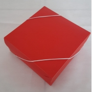Caixa Plástica para Presente Vermelha
