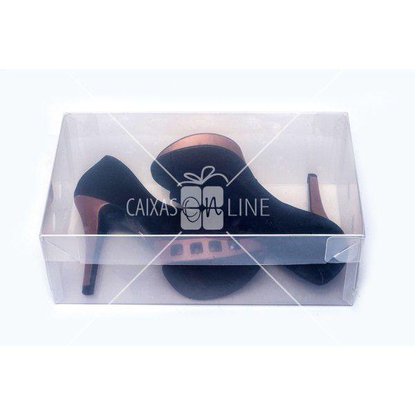 Caixa Organizadora Transparente Liso para Sapato e Tênis Feminino 0,60
