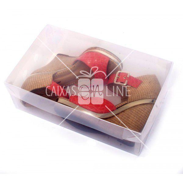 Caixa Organizadora Transparente Liso para Sapato e Tênis Feminino 0,80