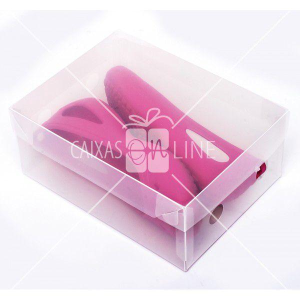 Caixa Organizadora Transparente Liso para Sapato Infantil