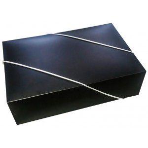 Caixa Retangular p/ Presente Preta com Elástico