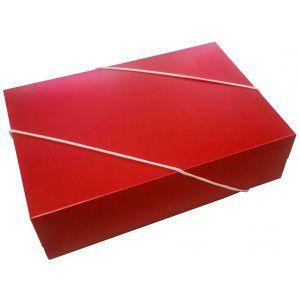 Caixa Retangular p/ Presente Vermelha com Elástico