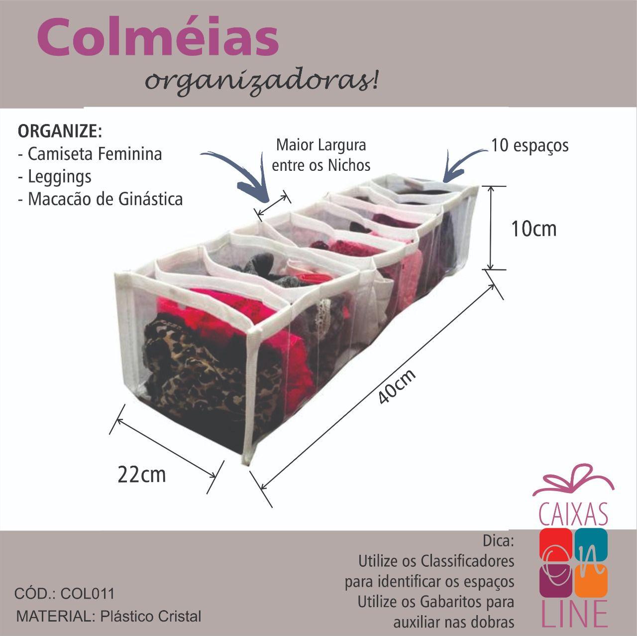 Colmeia Organizadora – Camiseta Feminina/ Legging/ Macacão Ginástica
