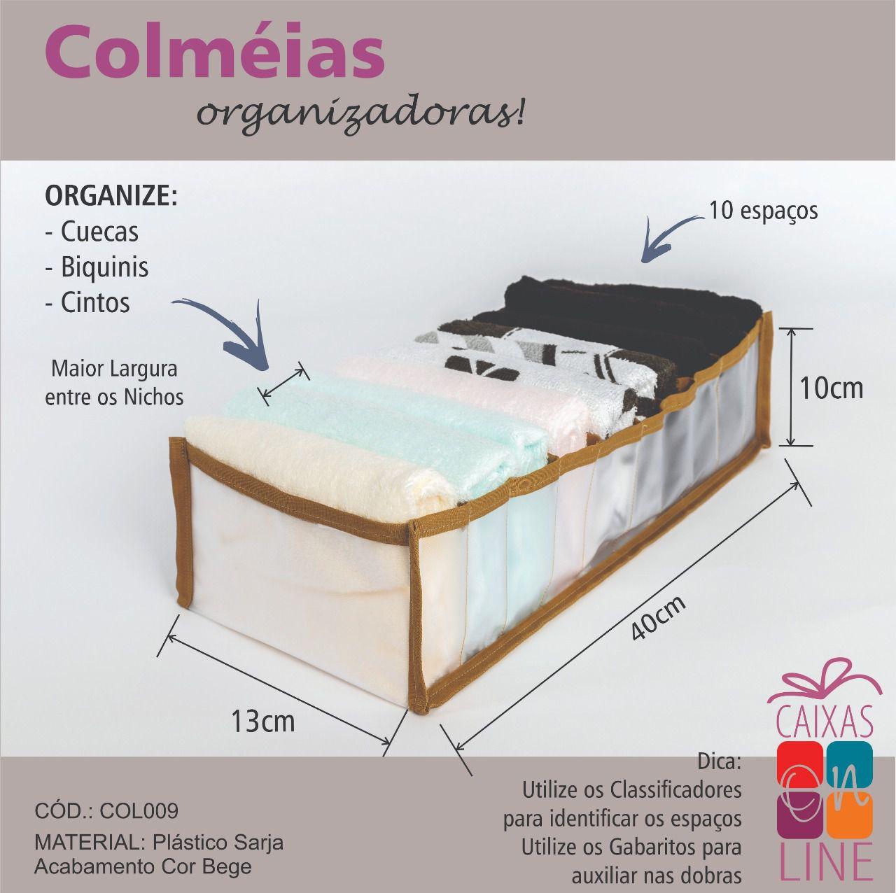 Colmeia Organizadora – Cuecas/ Biquínis/ Cintos (BEGE)