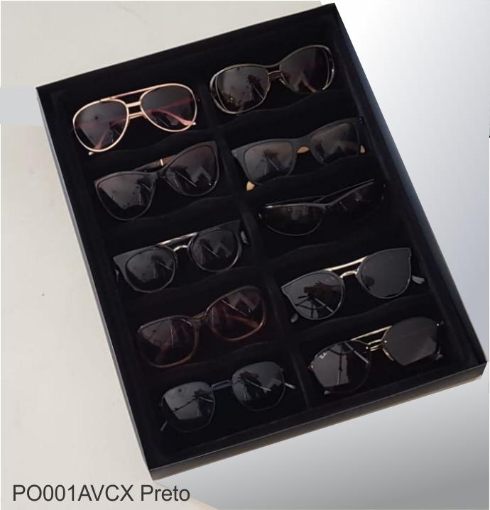 Porta Óculos Aveludado PRETO