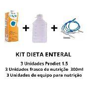 Kit Dieta Enteral + Frasco De Nutrição 300ml + Equipo