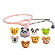 Estetoscópio Master Lite Pediatrico Fun Animal Spirit Rosa
