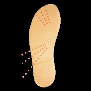 Palmilha de silicone com pontos de estímulo