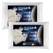 Travesseiro Nasa Alto Up4 14cm Altura - Kit Com 2 Peças