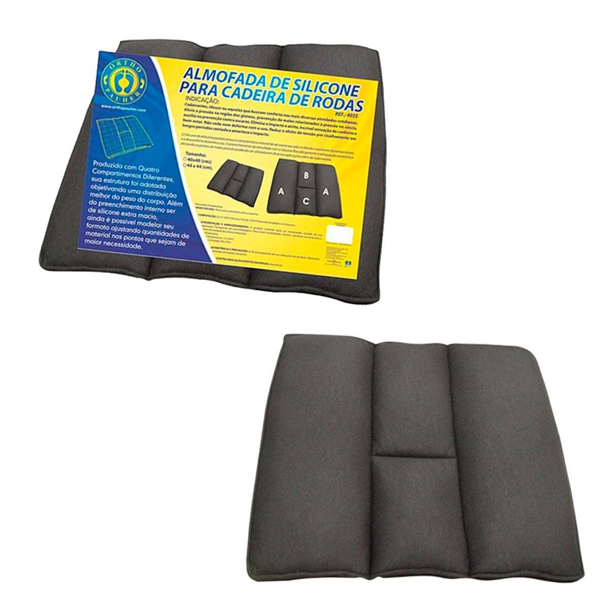 Almofada Ortopédica de Silicone para Cadeira de Rodas