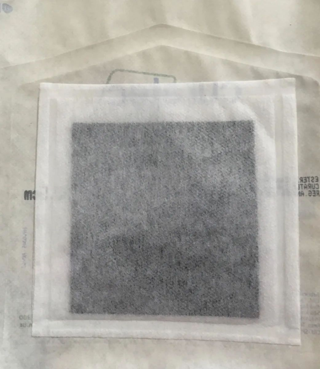Curativo De Carvão Ativado C/ Prata 10,5 X 10,5cm - Curatec
