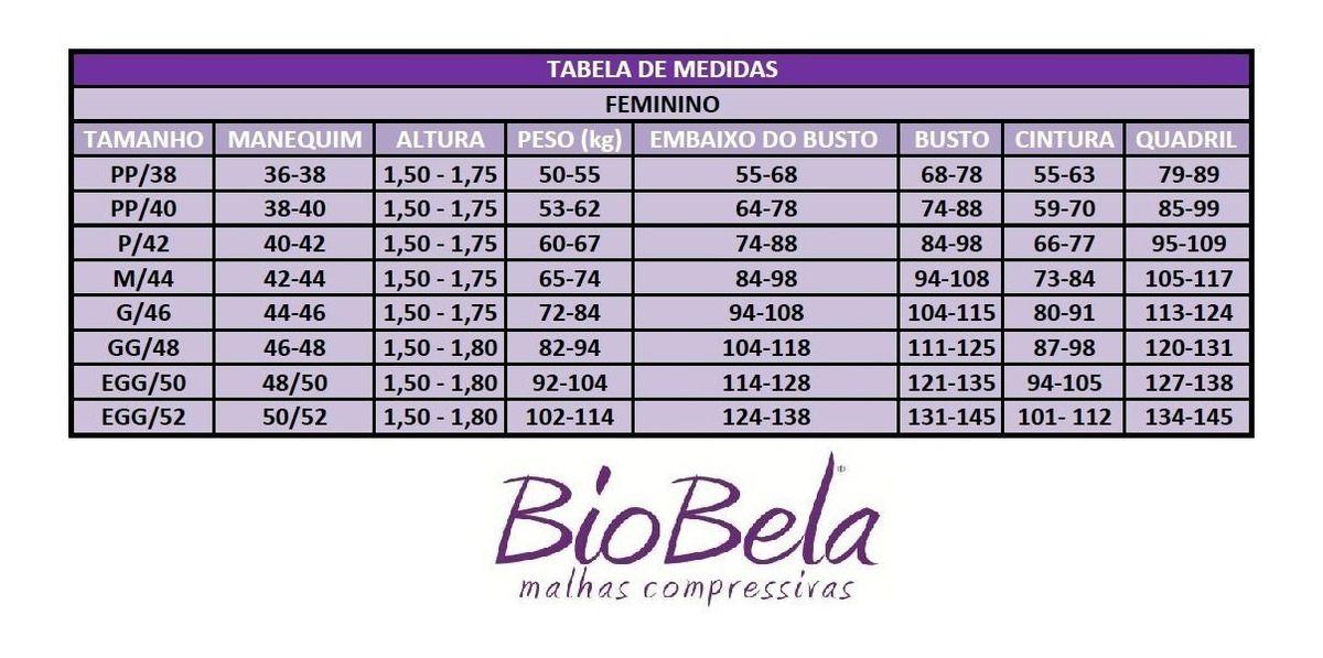 MODELADOR SHORT COM ALÇA E FECHO FRONTAL BIOBELA- PRETO 1601