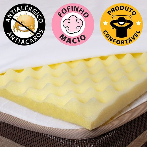 Pillow Top Casal Massageador Caixa de Ovo Espuma D23