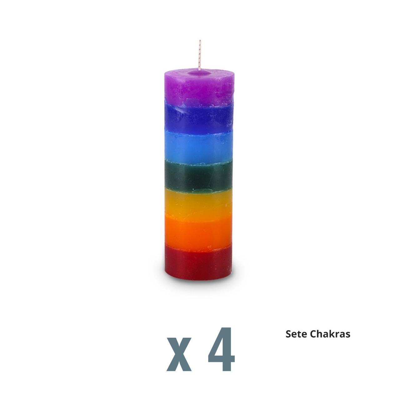 04 velas de harmonização dos Chakras