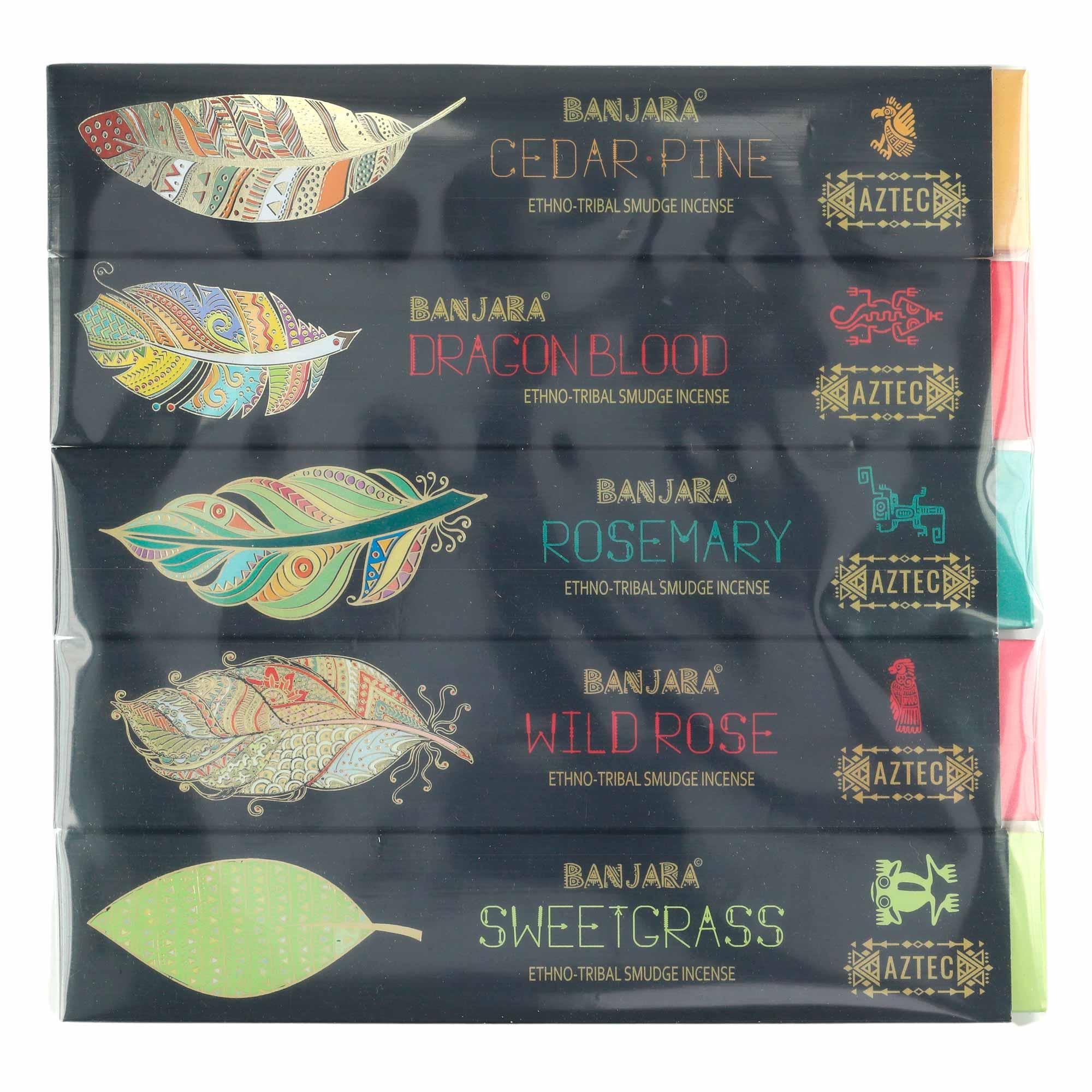 "05 caixas de Incensos massala  ""Banjara"" premium sortidos"