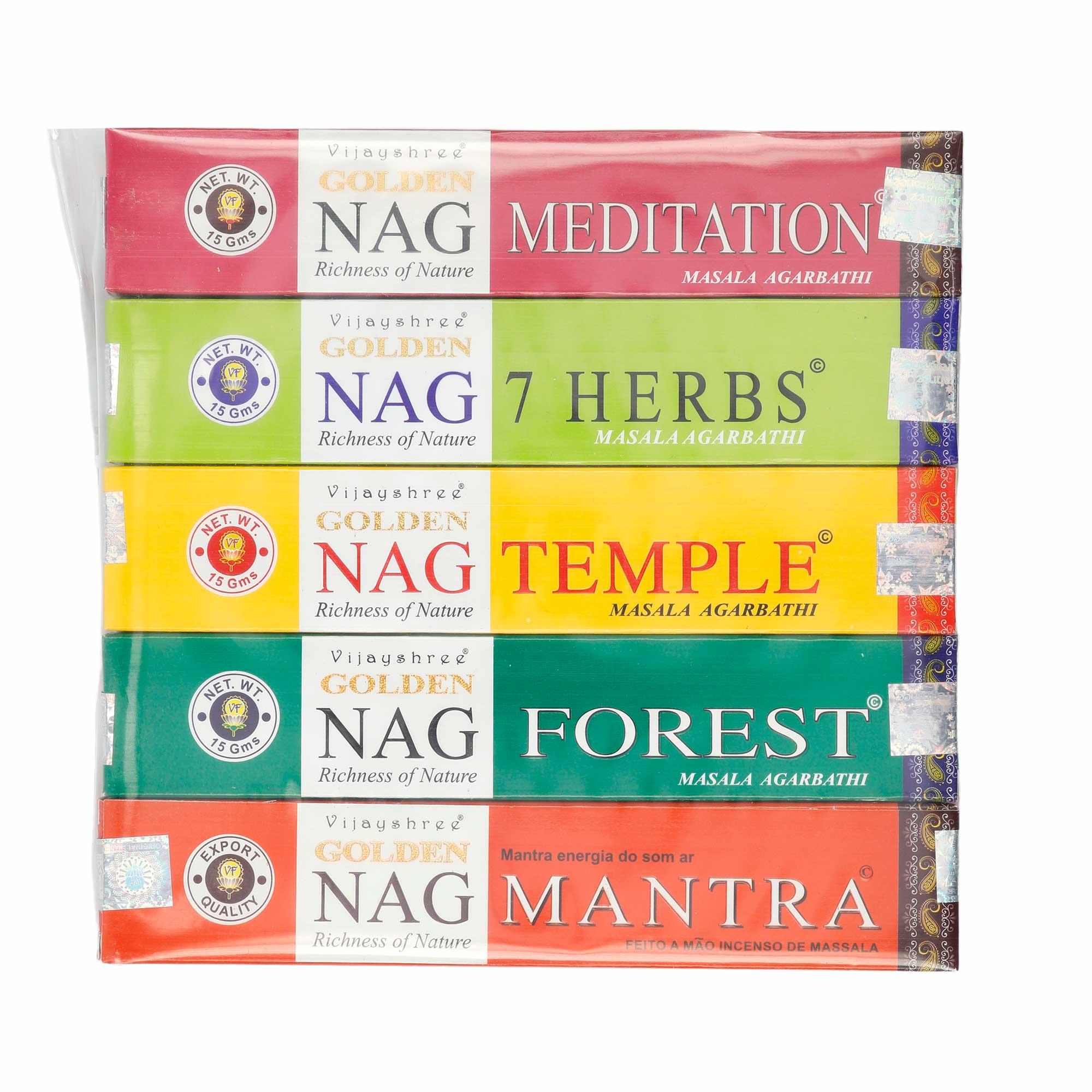 10 caixas de Incenso de massala  Vijay shree Golden ( incluso incensário)