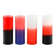 06 velas votiva 250 g ( BICOLOR)