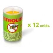 caixa com 12 velas de citronela  90g