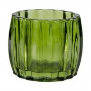 Castiçal de vidro decorativo verde
