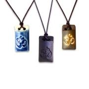 Colar aromático símbolo ÔM (retangular)