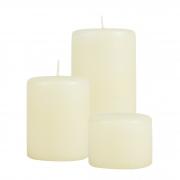 Conjunto com 3 velas cilíndricas ( 9,5 cm diâmetro)