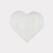 Coração  em Selenita branca (Tamanho P)