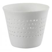Porta velas branco  - cerâmica ( Par)