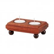Porta velas em madeira maciça