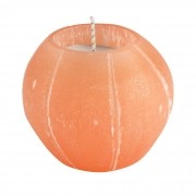 Porta velas esculpidos  em Selenita laranja ou branca
