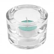 Suporte para velas em vidro transparente