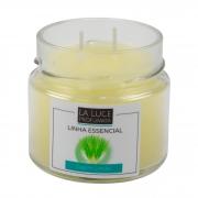 Vela perfumada 100% óleo essencial (capim limão)