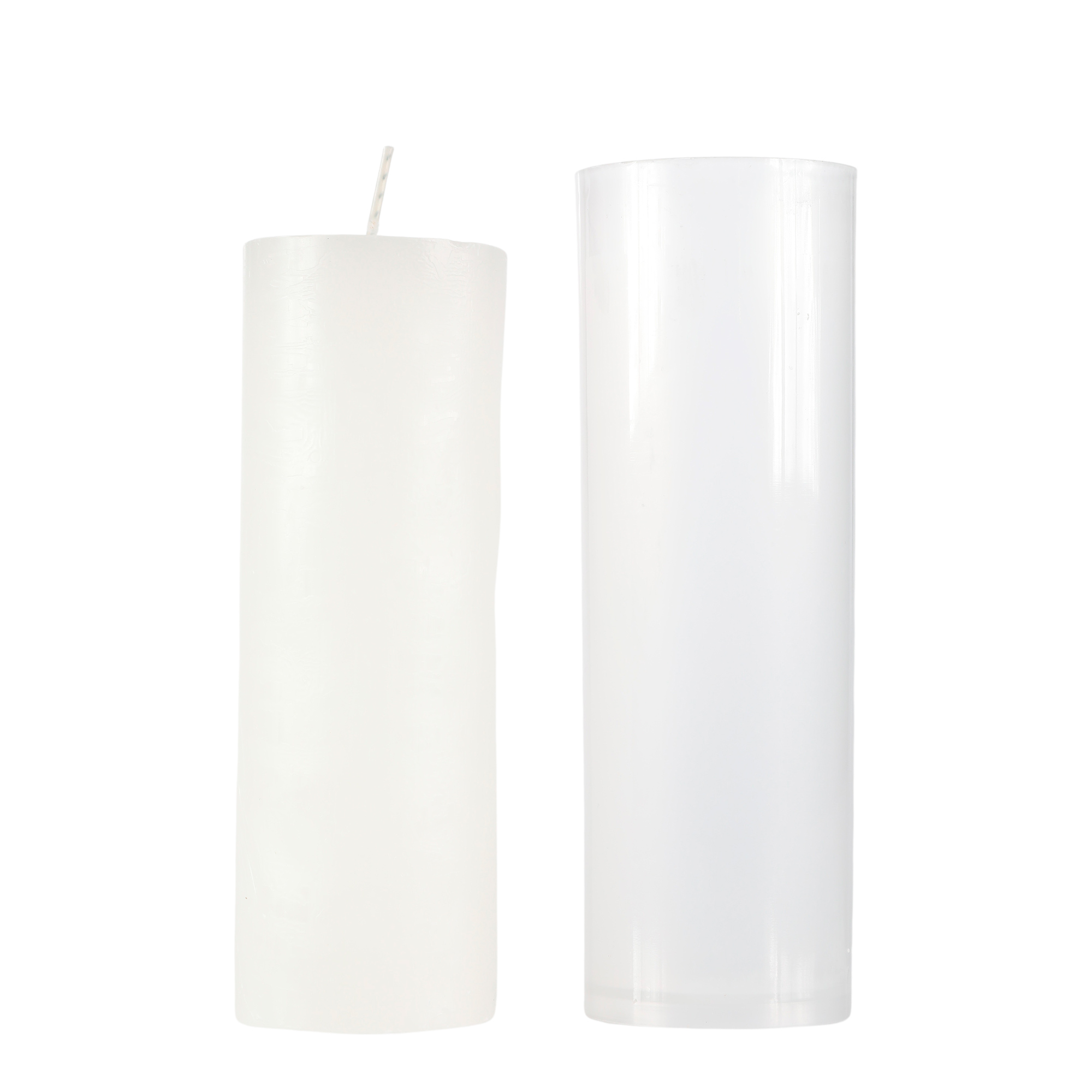 24 velas brancas - 7 dias (250g)
