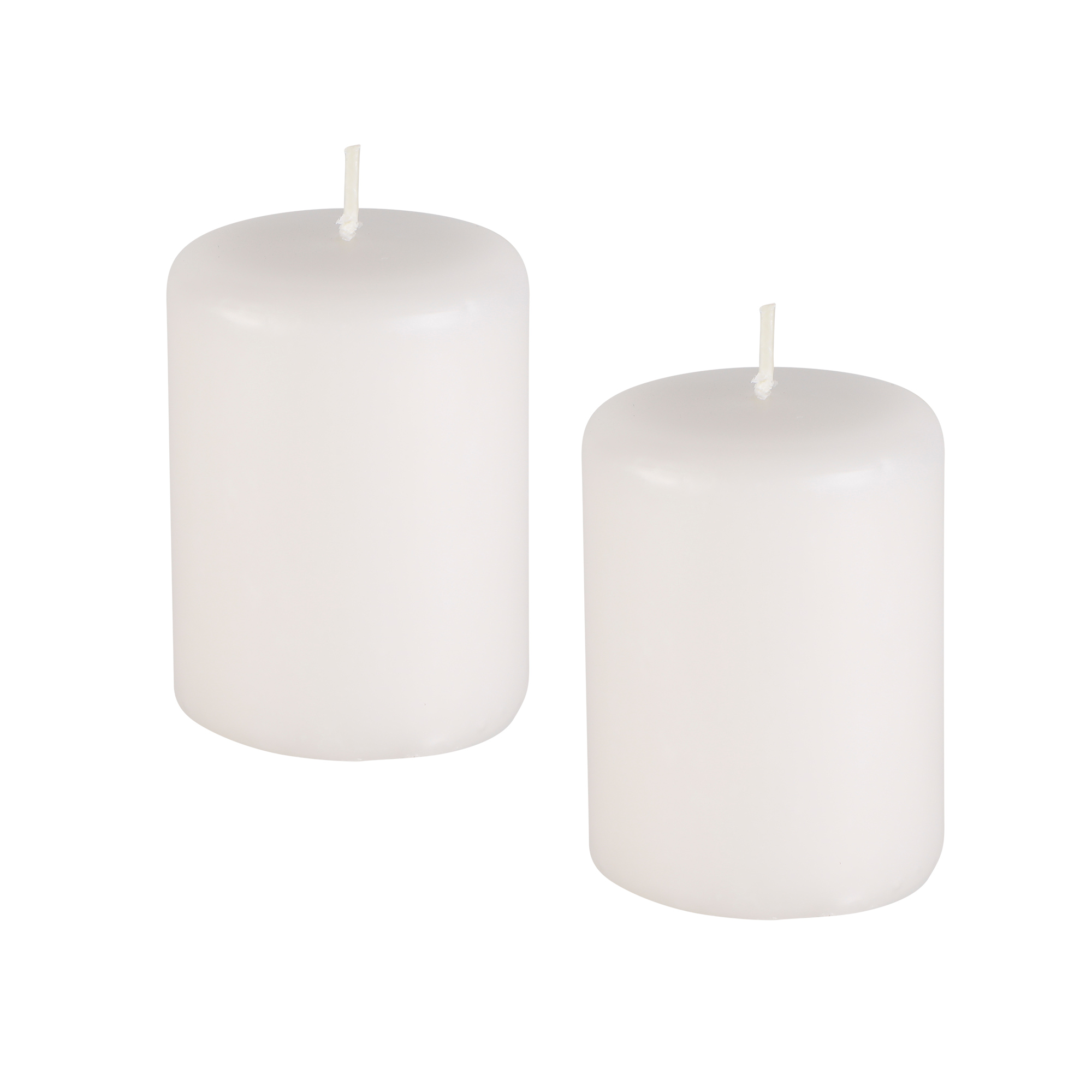 2 velas  Pilar  8 cm x 10 cm  ( cores diversas)