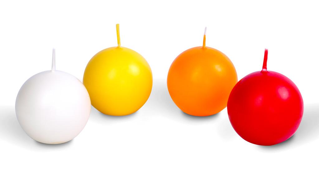 """50  Velas """"Bola""""  ( 6 cm diâmetro)"""