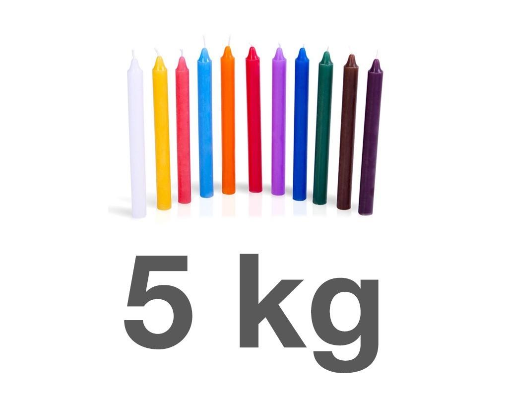 5 KG de velas palito - (escolha as cores)