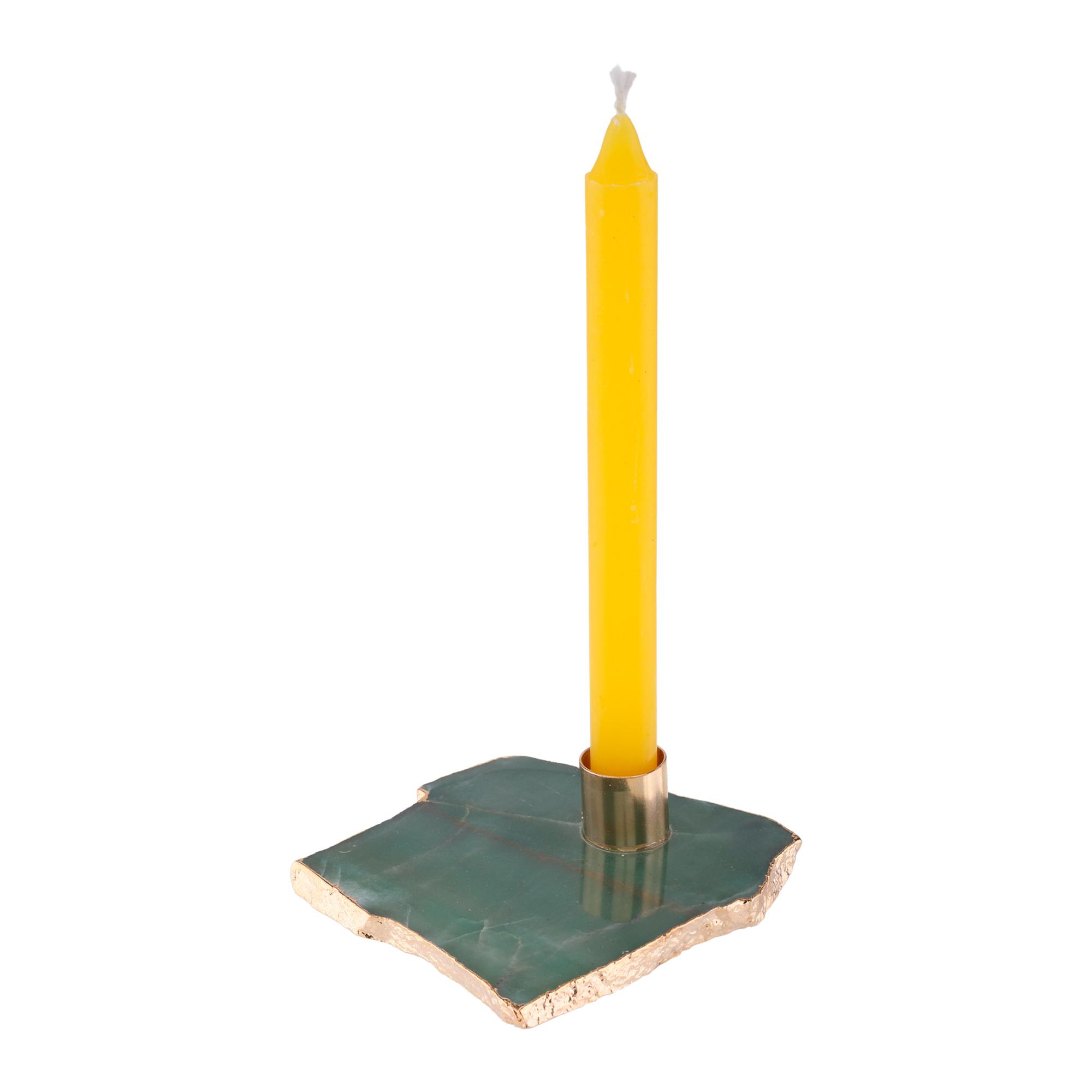 Base em pedra natural para velas