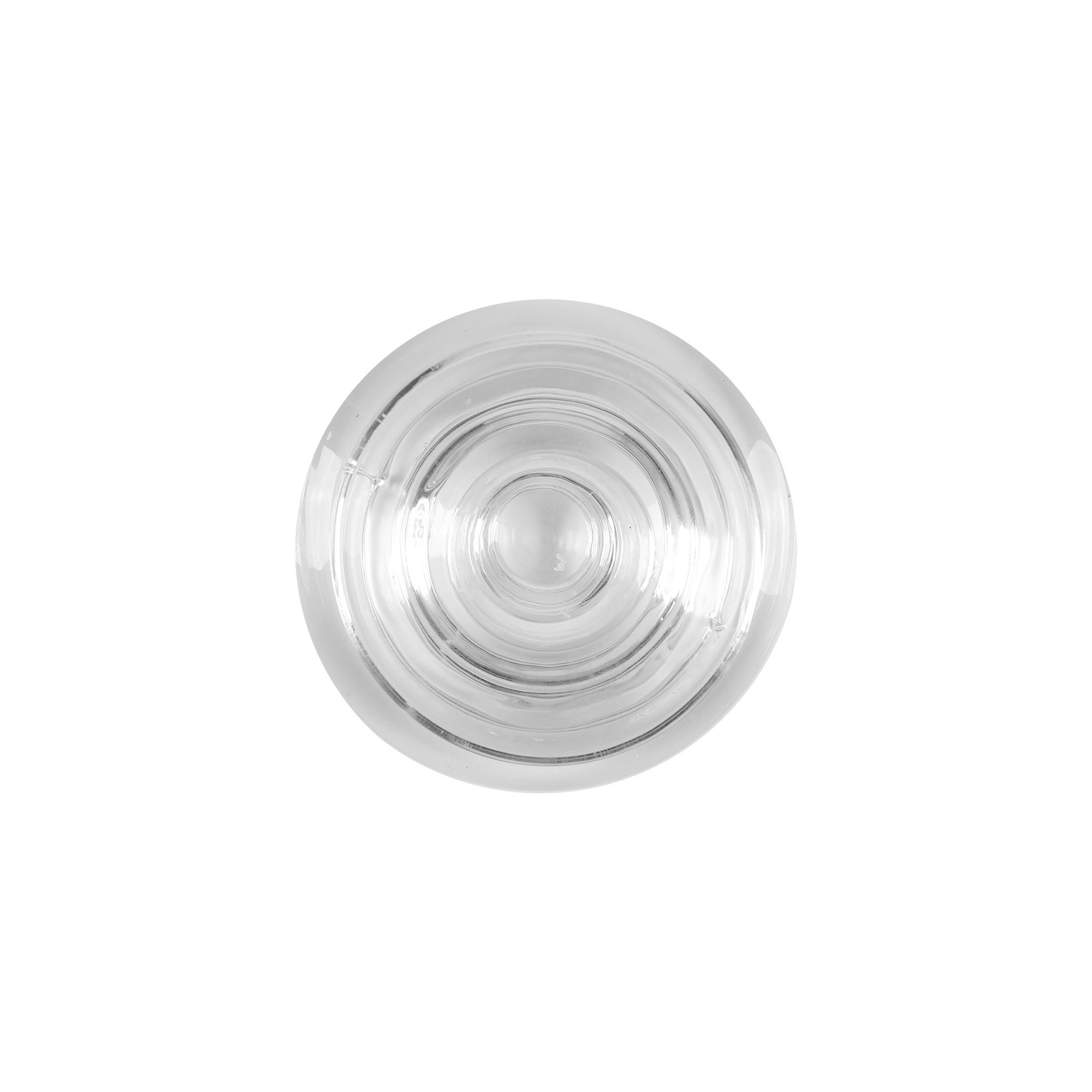 Castiçal em vidro transparente