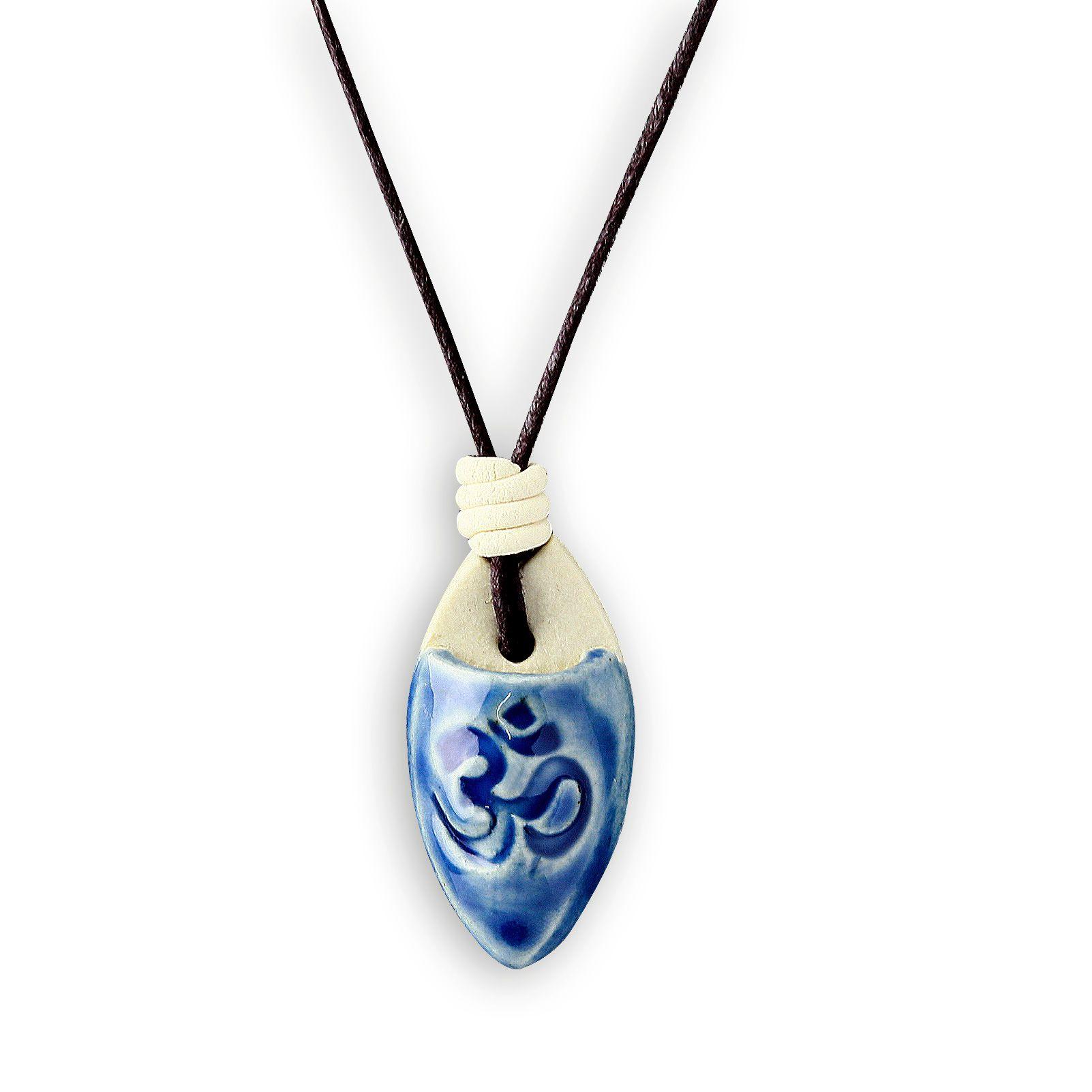 Colar aromático símbolo OM - azul